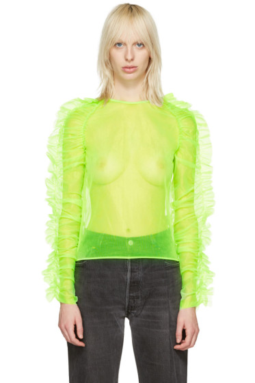 Molly Goddard - Green Stanley Blouse
