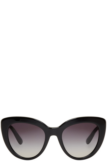 Dolce & Gabbana - Black Cat-Eye Sunglasses