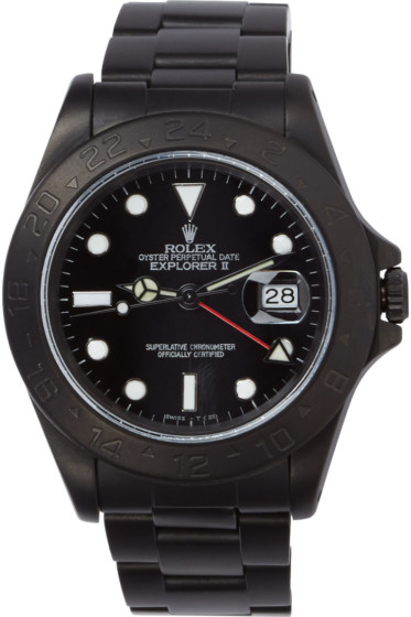 Black Limited Edition - Matte Black Limited Edition Rolex Explorer II Watch