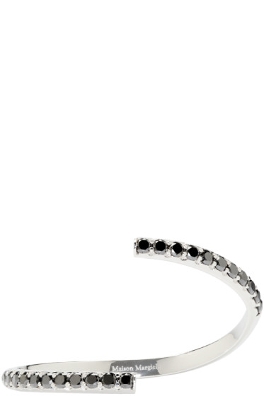 Maison Margiela Fine Jewellery - White Gold & Black Diamond Split Alliance Bracelet