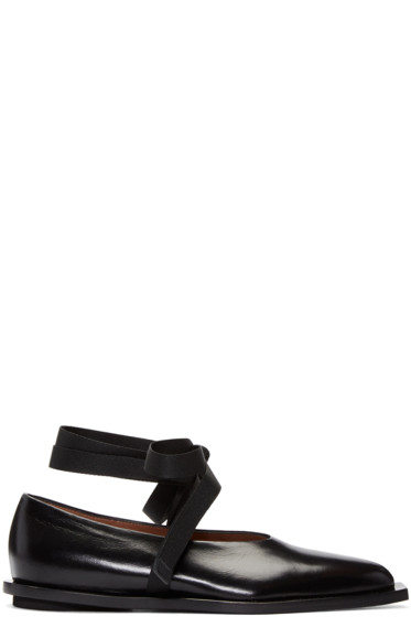 Marni - Black Ankle Tie Flats