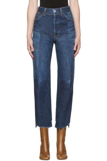 Vetements - Blue Reworked Biker Jeans