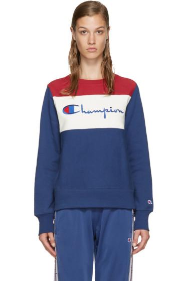 Champion Reverse Weave - Tricolor Logo Pullover