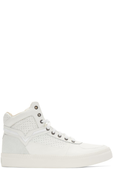 Diesel - White S-Spaark Mid-Top Sneakers