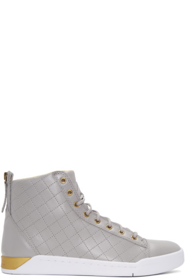Diesel - Grey Diamond High-Top Sneakers