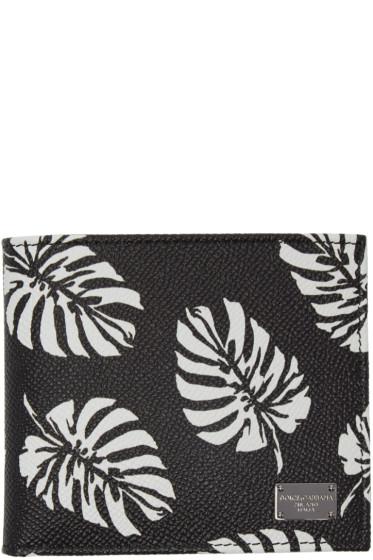 Dolce & Gabbana - Black Leaves Wallet