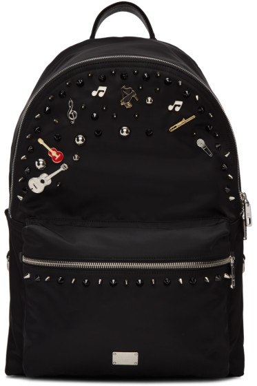 Dolce & Gabbana - Black Studs & Pins Backpack