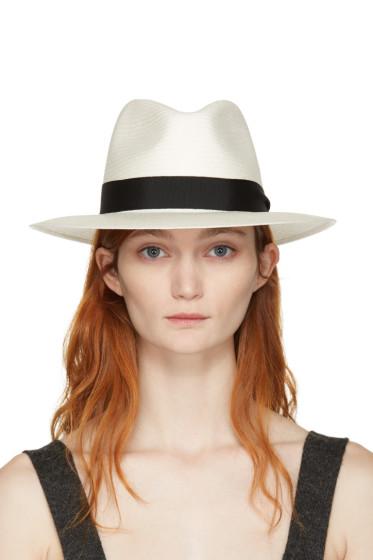 Rag & Bone - White Straw Panama Hat