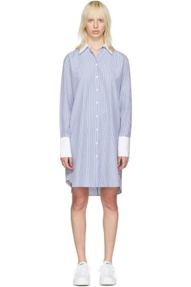 Rag & Bone - Blue Striped Essex Shirt Dress