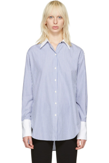 Rag & Bone - Blue Striped Essex Shirt