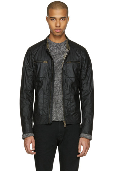 Belstaff - Black Waxed Cotton Weybridge Jacket