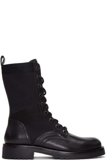 Diesel Black Gold - Black Leather High Boots
