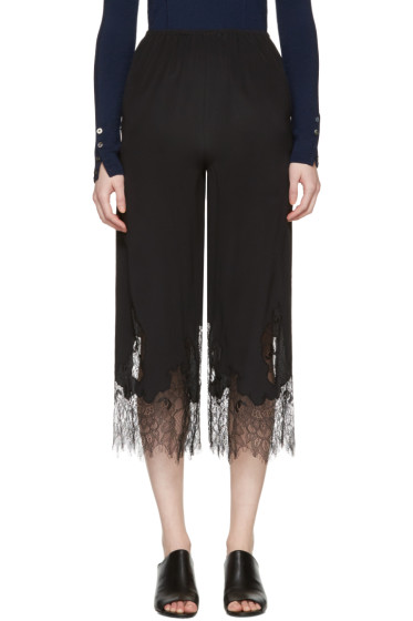 McQ Alexander Mcqueen - Black Fluid Lace Trousers