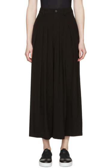 McQ Alexander Mcqueen - Black Pleated Wide-Leg Trousers