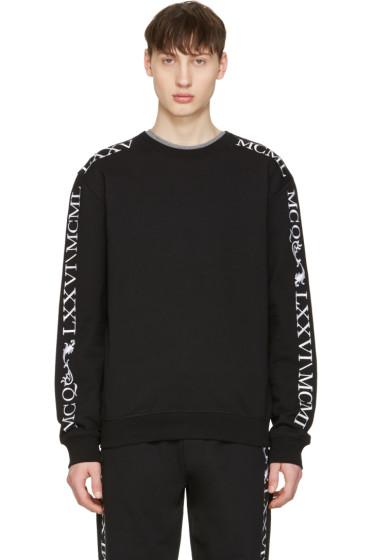 McQ Alexander Mcqueen - Black Numeral Clean Pullover