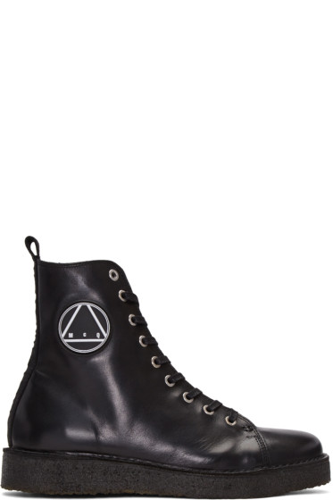 McQ Alexander Mcqueen - Black Chris High-Top Sneakers