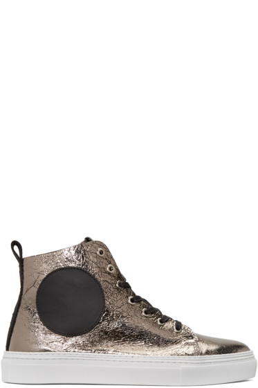 McQ Alexander Mcqueen - Gunmetal Chris Mid-Top Sneakers