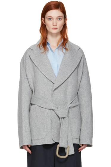 Acne Studios - Grey Lilo Doublé Belted Coat