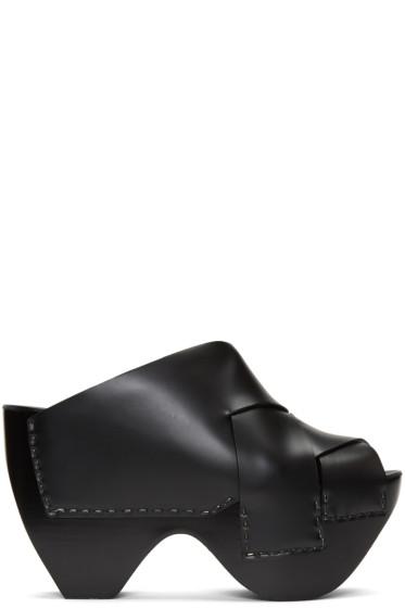 Acne Studios - Black Callie Platform Mules