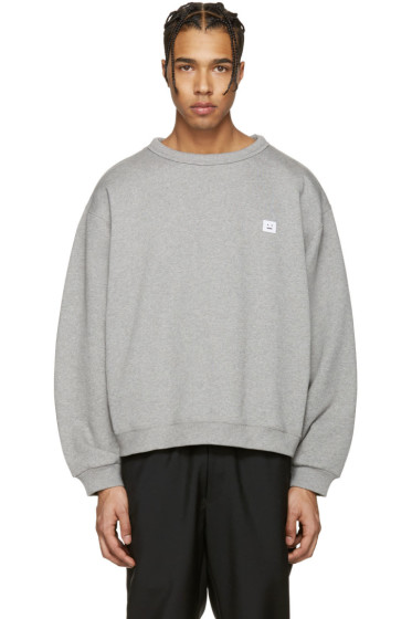 Acne Studios - Grey Fint Face Sweatshirt