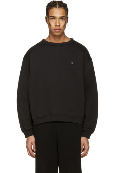 Acne Studios - Black Fint Face Sweatshirt