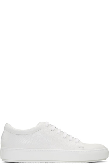 Acne Studios - White Adrian Grain Sneakers