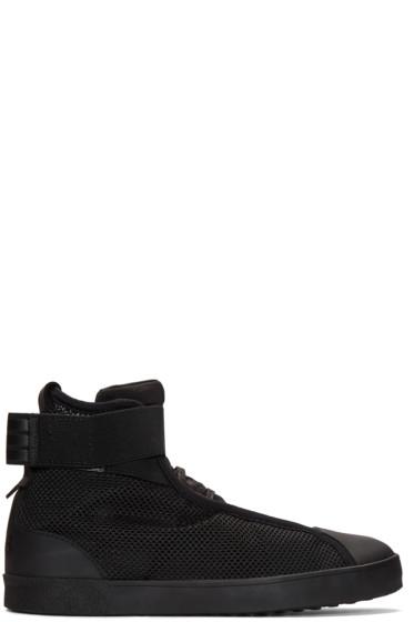 Y-3 - Black Loop Court High-Top Sneakers