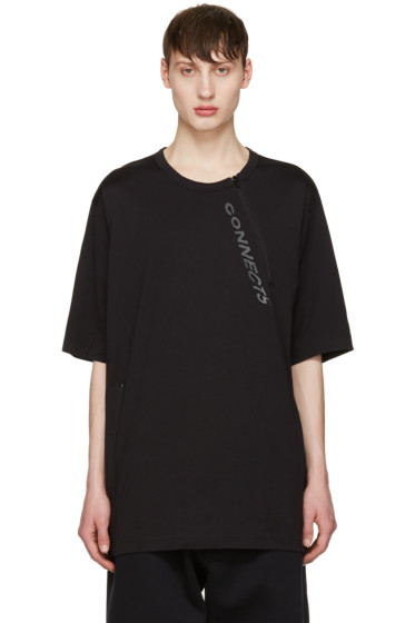 Y-3 - Black Zip T-Shirt