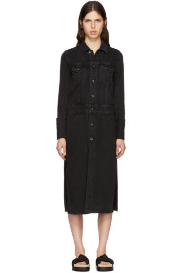 Helmut Lang - Black Denim Trench Coat Jacket