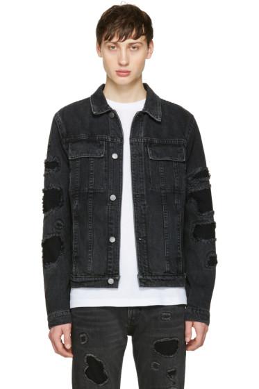 Helmut Lang - Black Mr 87 Destroy Denim Jacket