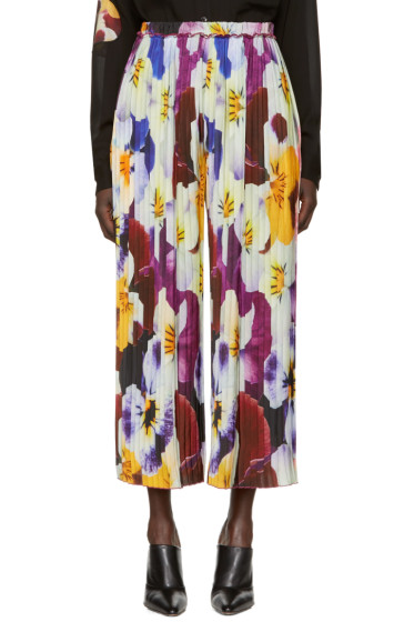 Christopher Kane - Multicolor Pleated Pansy Trousers