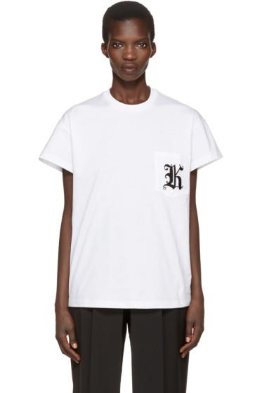 Christopher Kane - White Patch Pocket T-Shirt