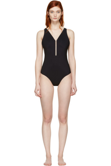 Alexander Wang - Black Fishline Swimsuit