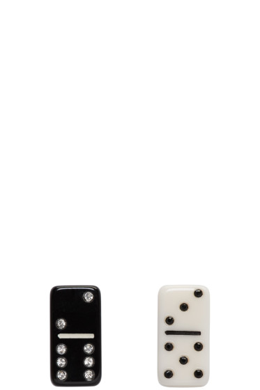 Marc Jacobs - Black & White Mini Domino Earrings