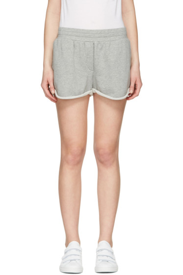 T by Alexander Wang - Grey Gym Shorts