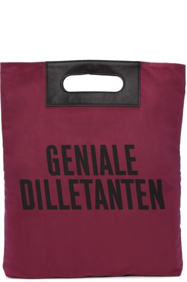 Robert Geller - Pink 'Geniale Dilletanten' Record Tote