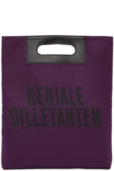 Robert Geller - Purple 'Geniale Dilletanten' Record Tote