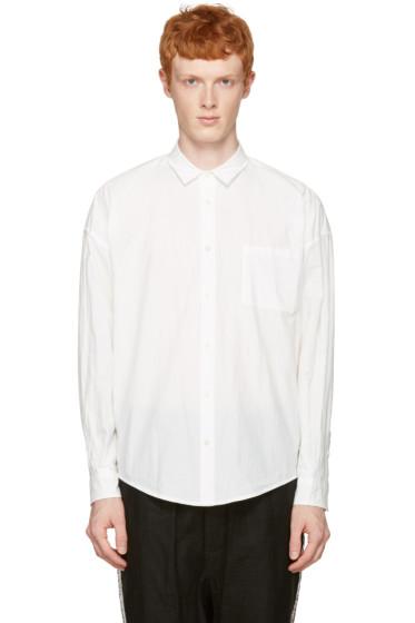 Robert Geller - White Long Sleeve Shirt