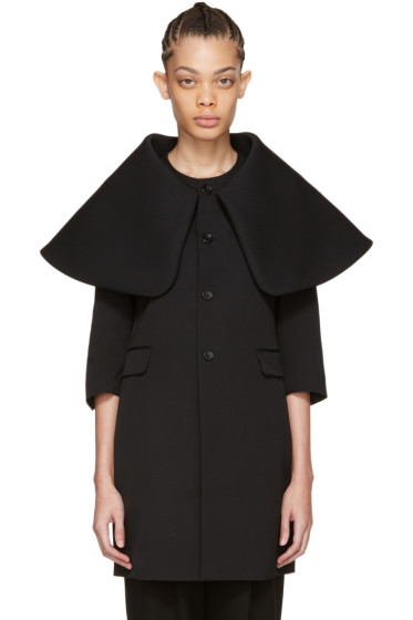 Comme des Garçons - Black Exaggerated Collar Coat
