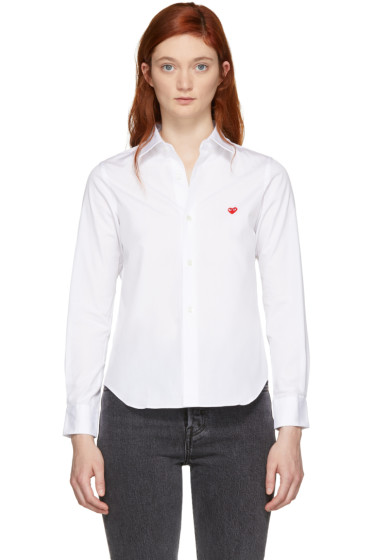 Comme des Garçons Play - White Small Heart Shirt