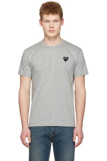 Comme des Garçons Play - Grey Heart Patch T-Shirt