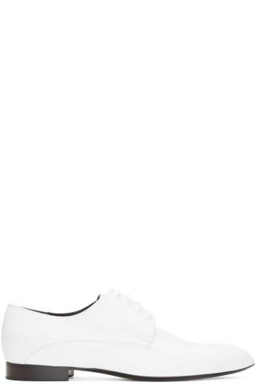 Jil Sander - White Pointed Toe Derbys