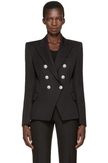 Balmain - Black Classic Six-Button Blazer