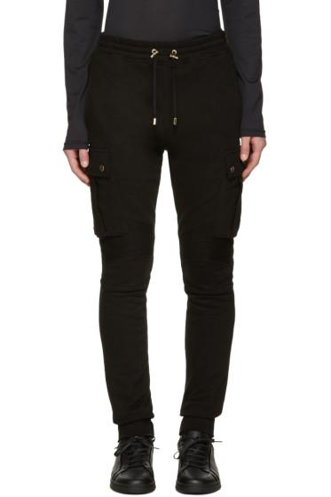 Balmain - Black Cargo Lounge Pants