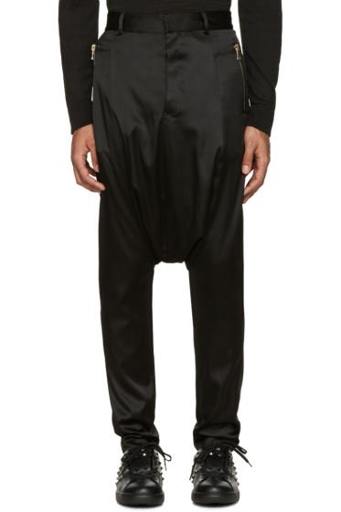 Balmain - Black Silk Sarouel Trousers