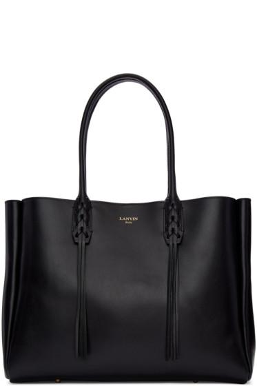 Lanvin - Black Leather Small Shopper Bag
