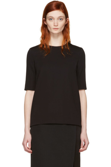 Lanvin - Black Short Sleeve Blouse