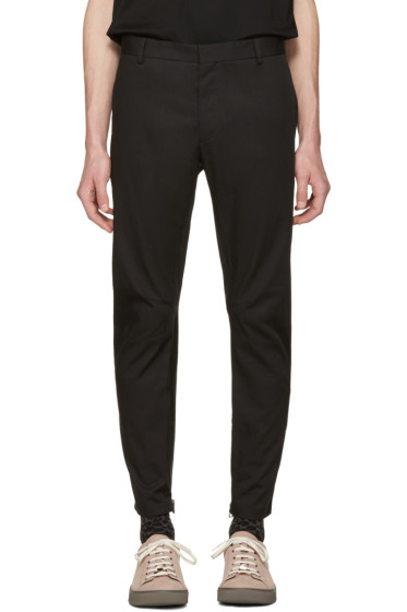 Lanvin - Black Biker Chino Trousers