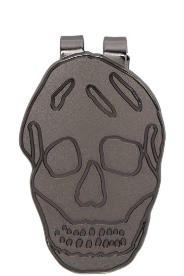 Alexander McQueen - Gunmetal Skull Money Clip