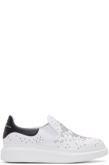 Alexander McQueen - White Leather Oversized Sneakers